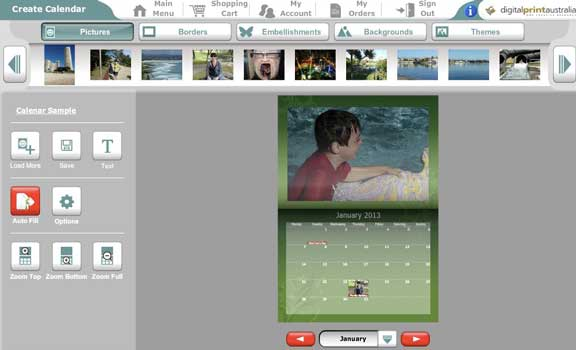 Photo Calendar adding images