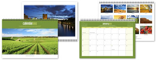 Stippled-Edge Wall Calendar